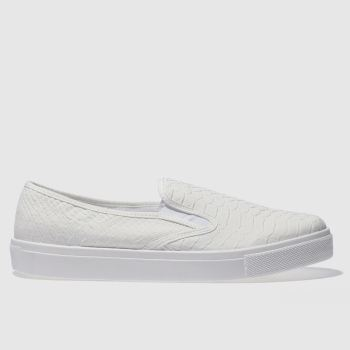 SCHUH WHITE AWESOME SNAKE FLAT SHOES
