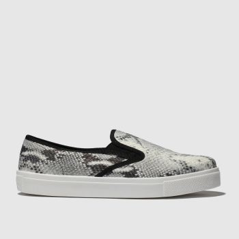 Schuh White & Black Awesome Womens Flats