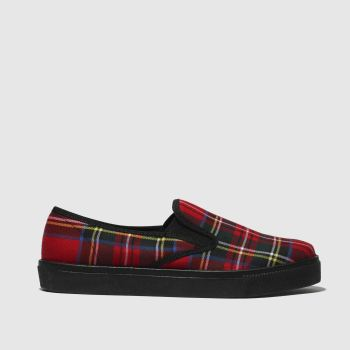 Schuh Red Awesome Tartan Womens Flats