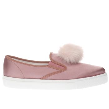 SCHUH PINK AWESOME POM POM FLAT SHOES