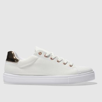 Schuh White & Gold Rising Star Womens Trainers