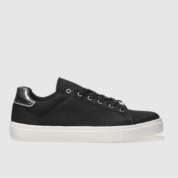 Schuh Black & White Rising Star Womens Trainers