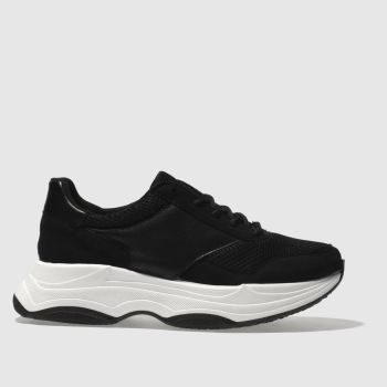 Schuh Black & White Freaky Womens Trainers