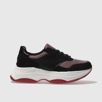 Schuh Black & Red Freaky Womens Trainers