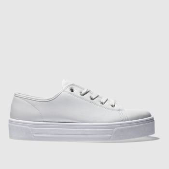 Schuh White & Silver Sneaky Womens Trainers