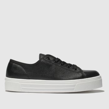 Schuh Black & White Sneaky Womens Trainers