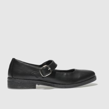SCHUH BLACK SAVANNA FLAT SHOES