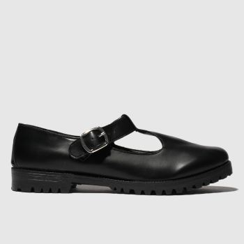 Schuh Black Making Meadows Wide Fit Womens Flats