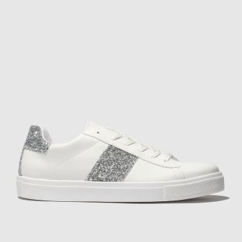 Schuh White & Silver Bedazzle c2namevalue::Womens Trainers