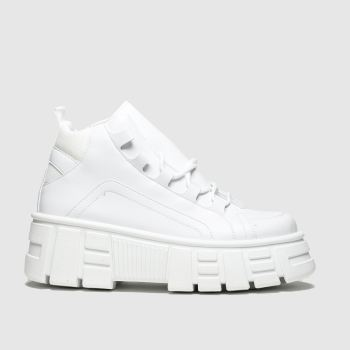 Schuh White Rumble Womens Trainers