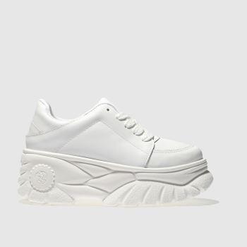 schuh white platform trainers