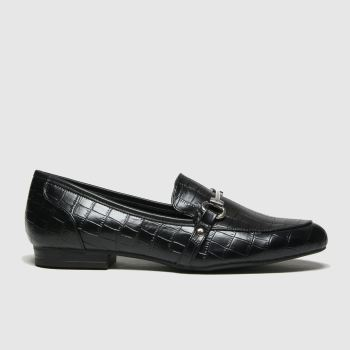 schuh Black Lana Snaffle Detail Loafer Womens Flats