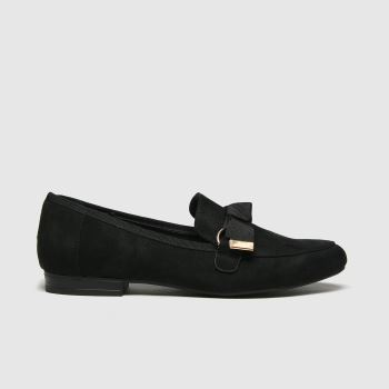 schuh Black Lima Hardware Bow Loafer Womens Flats