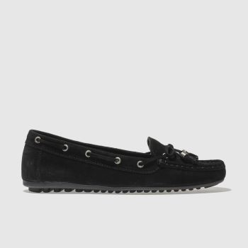 SCHUH BLACK SPIN AROUND FLAT SHOES