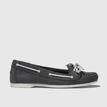 Schuh Navy Twist Again Womens Flats