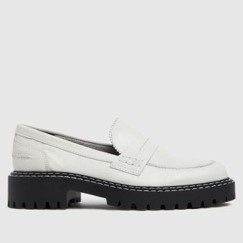 schuh White London Chunky Leather Loafer Flats