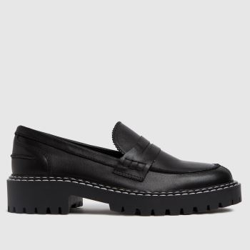 schuh Schwarz London Chunky Leather Loafer Flats