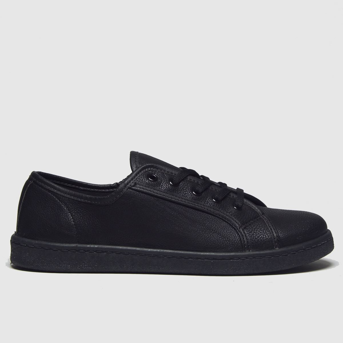 schuh Schuh Black Fun Times Lace Up Flat Shoes
