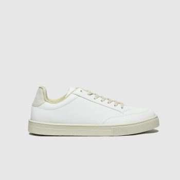 schuh White Mason Lace Up Trainer Womens Trainers