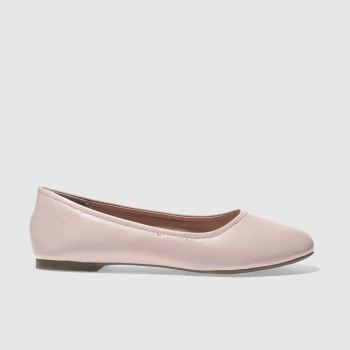 SCHUH PALE PINK TURN OUT FLAT SHOES
