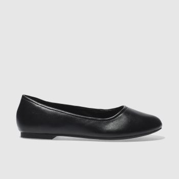 Schuh Black Turn Out Womens Flats