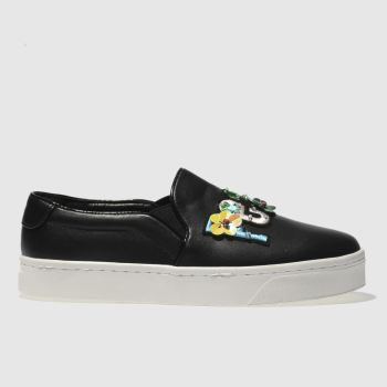 Schuh Black Peace And Love Womens Flats