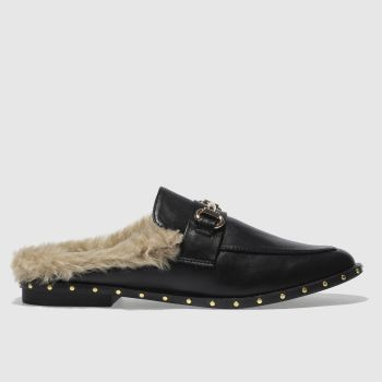 SCHUH BLACK SWANKY FLAT SHOES