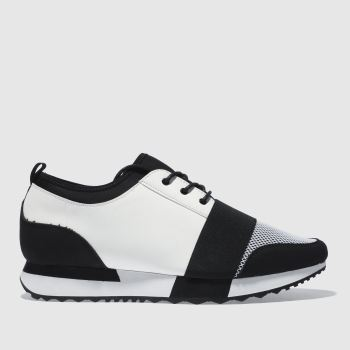 SCHUH BLACK & WHITE VLOGGER 3 TRAINERS