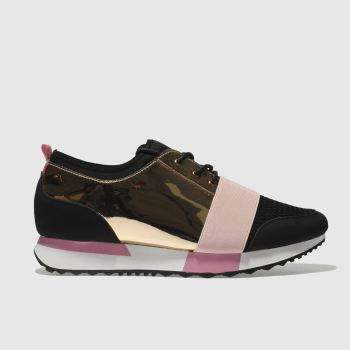 Schuh Black & pink Vlogger 3 Womens Trainers