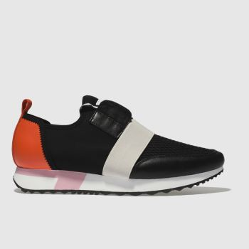 Schuh Black & Red Finesse Womens Trainers