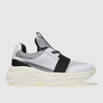 Schuh Black & White On Fleek Womens Trainers