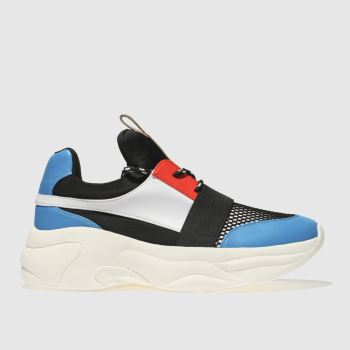 Schuh Black & Blue On Fleek Womens Trainers
