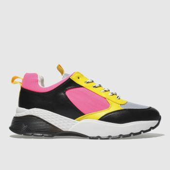 Schuh Black & Pink Slays Womens Trainers
