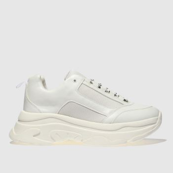 Schuh White High Key Womens Trainers