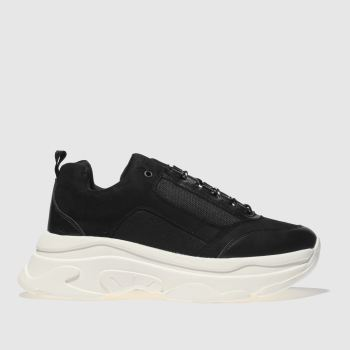 Schuh Black & White High Key Womens Trainers