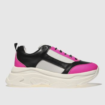 Schuh White & Black High Key Womens Trainers
