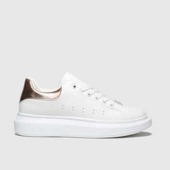 Schuh White Breezy Womens Trainers