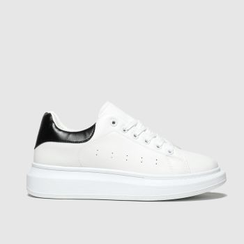 schuh White & Black Breezy Womens Trainers