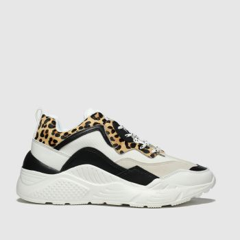 Schuh White & Black Flair Womens Trainers