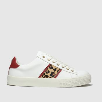 Schuh White & Red Flawless Womens Trainers