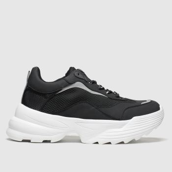 schuh Black Know How Womens Trainers