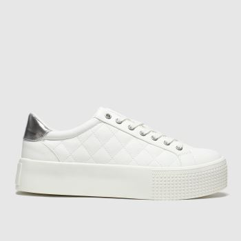 Schuh White & Silver Jazzy c2namevalue::Womens Trainers