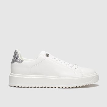 Schuh White & Silver Wonder Womens Trainers