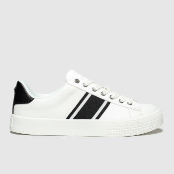 Schuh White & Black Flawless Womens Trainers