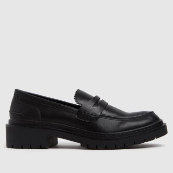 schuh Black Lincoln Chunky Loafer Womens Flats
