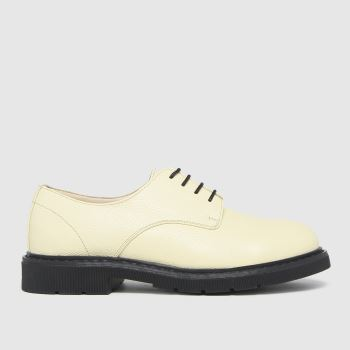 schuh Beige Lance Leather Lace Up Womens Flats