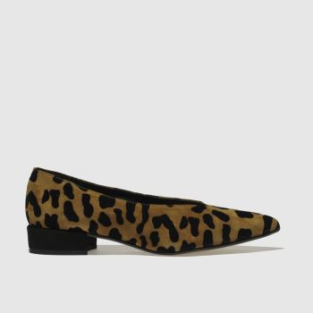 SCHUH BROWN & BLACK PATSY FLAT SHOES