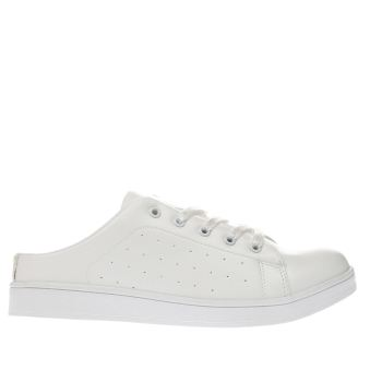 SCHUH WHITE STROKE OF LUCK TRAINERS