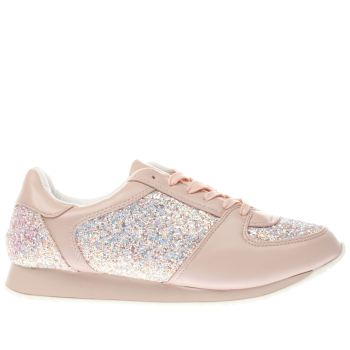 SCHUH PALE PINK VISION TRAINERS