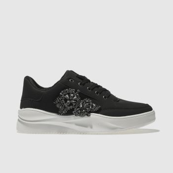 Schuh Black & White Majestic Womens Trainers